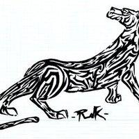El tigre de rayas tribales