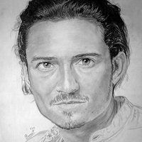 retrato Orlando Bloom