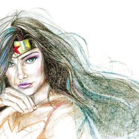 Wonder Woman sketch color