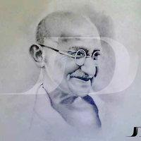 Gandhi a Lápiz