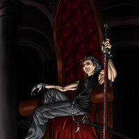 Sentado en mi trono.