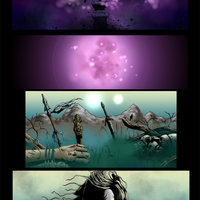 Segunda pagina de Cazador de sombras, terminada