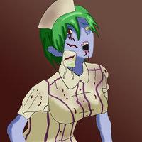 Enfermera zombie...