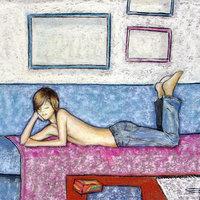 Sobre el sofa
