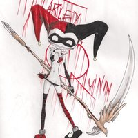 creepy harley quinn