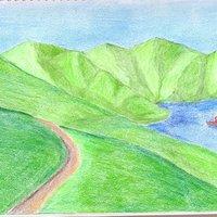 Lago entre Montañas