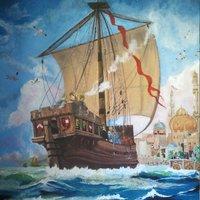 Barco mercante hacia puerto árabe