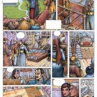 página del cómic no acabado