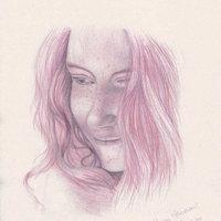 retrato en rosa