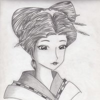 Mi geisha Monocromática