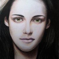 Kristen Stewart retrato tradicional