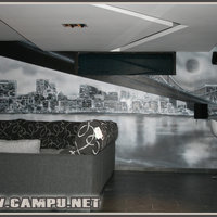 mural Manhattan blanco y negro