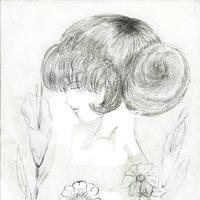 la dama y las flores