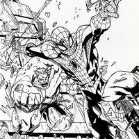 Spiderman y Hulk