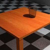 Mesa vaso 3D