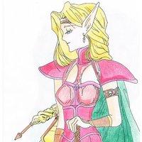 Elfa con espada