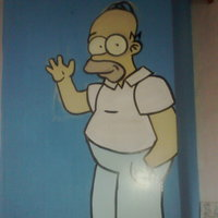 homero en la pared
