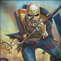 Camiseta pintada a mano de Iron Maiden