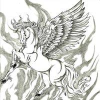 Ejercicio caballo con alas