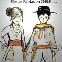 Trajes de Baile Chileno , MANGA.