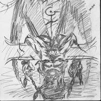 DEMON -demonio cruzificado-