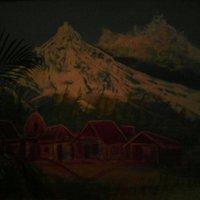 al pie del volcan