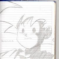 Dibujo de Goku gt