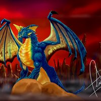 Dragón Azul Joven