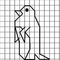 Pingüino  cuadrigrafia