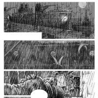 Pagina para novela gráfica UN MAR DE ORTIGAS