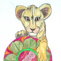 leona con mandala