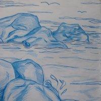 Mirada azul al mar
