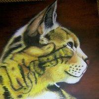 Gato en oleo
