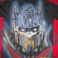 t-shirt Optimus prime aerografiada