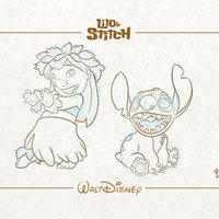 Lilo y Stitch - Colección Láminas Walt Disney.
