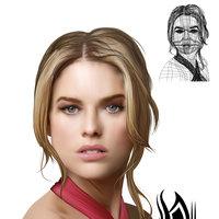 Retrato en herramienta Malla de degradado en Adobe Illustrator por Venc Design