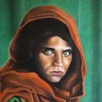 retrato niña afgana NG