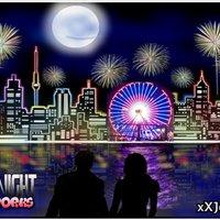 Mi Dibujo: City Night Fireworks