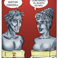 Entre estatuas