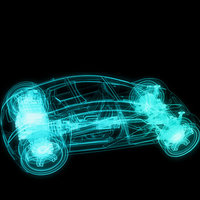 Produccion de video mapping 3d sobre un vehiculo para Evento
