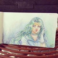 Dibujo diario - Día 3 - Sailor Neptuno