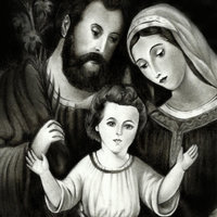 JESUS MARIA Y JOSÉ a lapiz