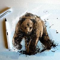 El  oso  Bear !!!    solo  tintas y color photoshop