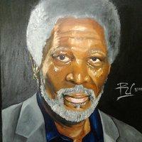 Morgan Freeman Retrato