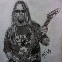 Jeff Hanneman a lapiz. RIP.
