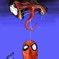 Spidey & Venom (iPad Sketch)