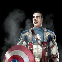 Alberto como Capitán América