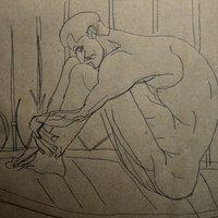 El pensador (ejercicio blind contour)