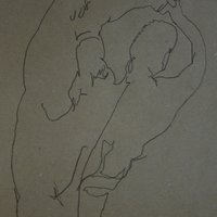 El atleta (ejercicio blind contour)