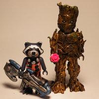 Playmobil customizado Rocket y Groot Guardianes de la galaxia